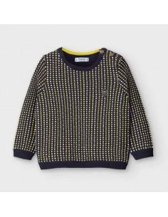 Sweter mini żakard