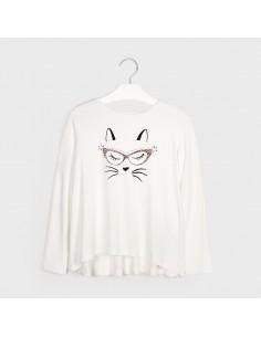 Koszulka d/r wiskoza /koty