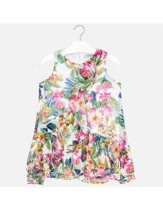 Sukienka nadruk szyfon