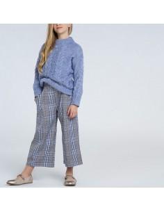Spodnie culotte krata