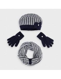 Komplet czapka szalik pepitka