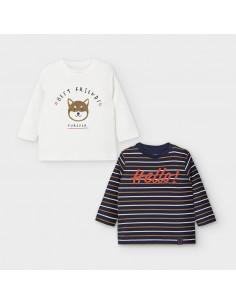 Komplet 2 koszulki d/r paski