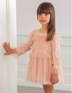 Sukienka tiul paski lurex