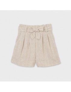 Krótkie spodnie len wiązanie