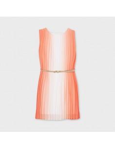 Sukienka plisowana ombre