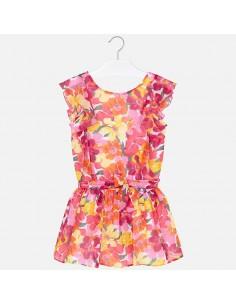 Sukienka z gazy kwiatki