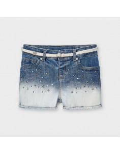 Krótkie spodnie jeans ćwieki