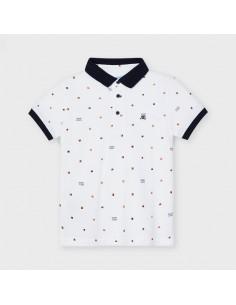 Koszulka polo k/r nadruk