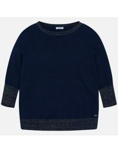 Sweter z lureksową nicią