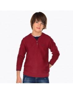 Sweter podwójny materiał