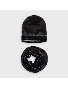 Komplet z czapką moro