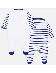 51b0684b7a9f2e Komplet 2 piżamki długie kolor czerwony rozmiar 6-9 miesięcy (75 cm)