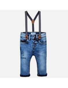 Spodnie jeans z szelkami