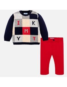 Kompl. sweter ze spodniami