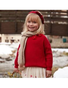 Sweter dzianina ściągaczowa