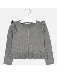 Sweter rozp.dzian.z falbanką