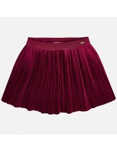 Spódnica plisowana aksamit