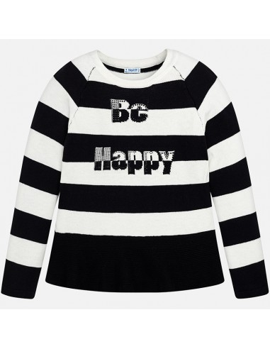sweter-w-paski-z-napisem-