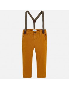 Spodnie chinos z szelkami