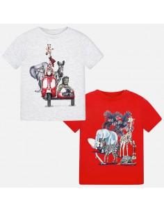 Kompl.2 koszulki k/r /animals