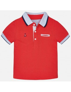 Koszulka polo k/r gładka