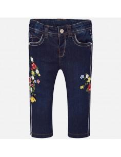 Spodnie długie jeans z haftem