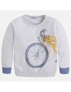 Sweter nadruk moto
