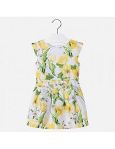 Sukienka z satyny tulipany
