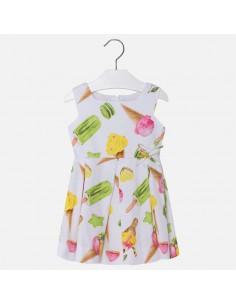 Sukienka z satyny lody