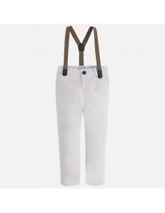 Spodnie typu chino szelki