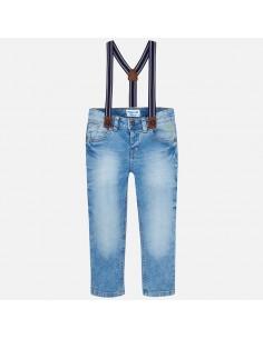Spodnie jeansowe z szelkami