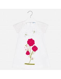 Sukienka haftowany kwiat