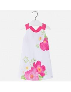 Sukienka kwiaty stras