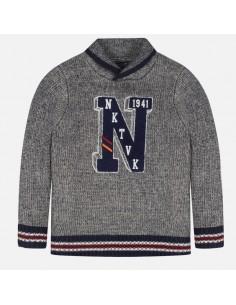 Sweter zabudowany kołnierz