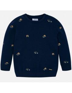 Sweter z haftami