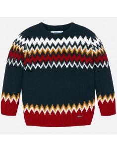 Sweter żakard