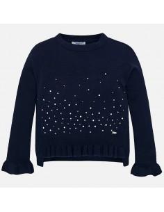 Sweter z falbanką