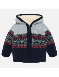 Sweterek rozpinany z kapturek