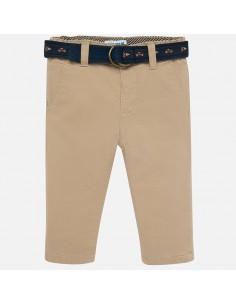 Spodnie ocieplane z paskiem