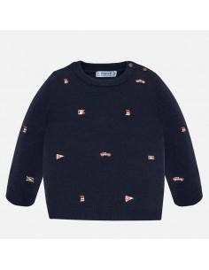 Sweterek z haftem