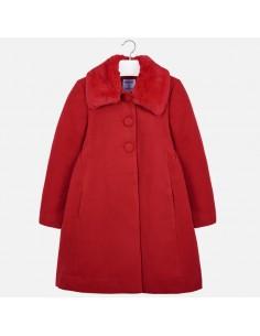 Płaszcz z kołnierzem z futer