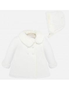 Płaszcz trykot z czapeczką