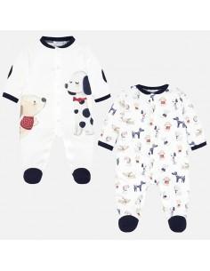 Komplet 2 piżamki interlock