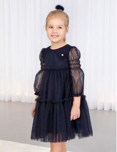 Sukienka tiulowa z plumeti