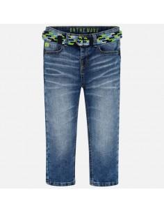 Spodnie jeans z paskiem