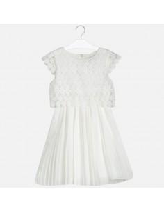 Sukienka łączona guipur