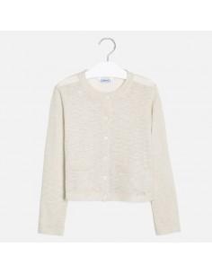 Sweterek trykot bawełna lurex