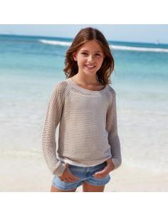 Sweter dziurkowany