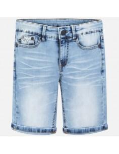 Bermudy jeans z kieszeniami
