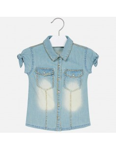 Bluzka jeans glitter